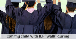 """Can my child """"walk"""" with graduating class even though she is not graduating?"""