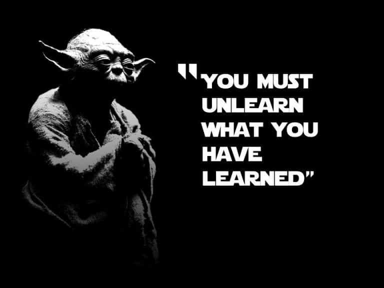 Don't teach what you'll have to unteach (or unlearn!)