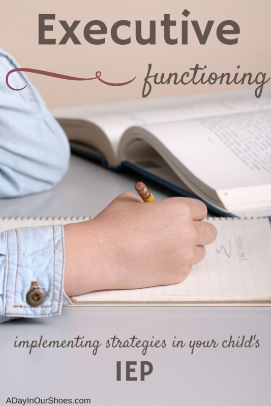 Executive functioning strategies in an IEP are essential if a child struggles in this area. Without assistance, it will permeate all other areas of their schoolwork. Here are some tips for implementing executive functioning strategies in an IEP or special education.
