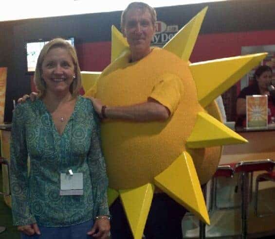 guy who dresses as sun for jimmy dean blogher