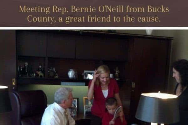 we met rep bernie o'neill in his office