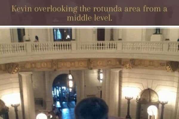 boy at rotunda harrisburg capitol
