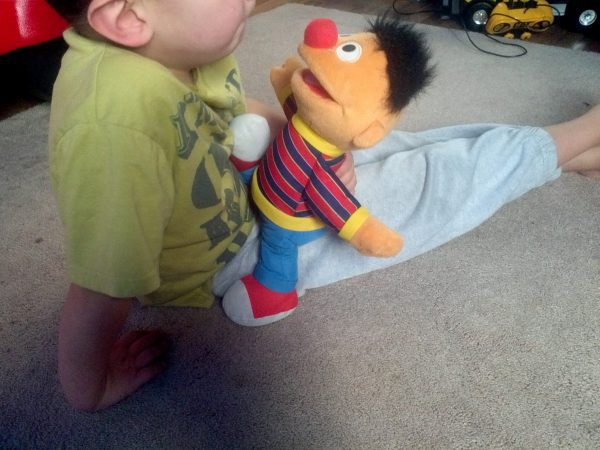 ernie doll, weighted doll