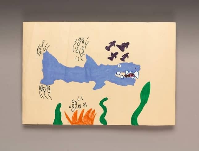 painted shark