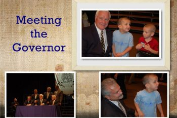 Meeting the Governor for signing of HB 2