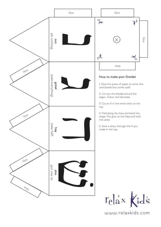 Comprehensive image in printable dreidel