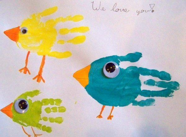 bird hand print