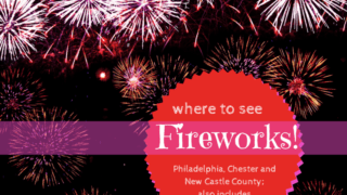 Where to see Fireworks in Chester County, Delaware, Philadelphia.