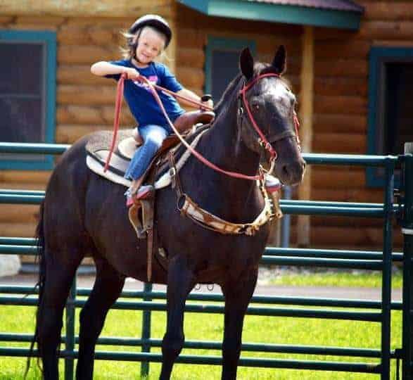 emma on a horse