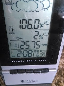 hot day thermometer