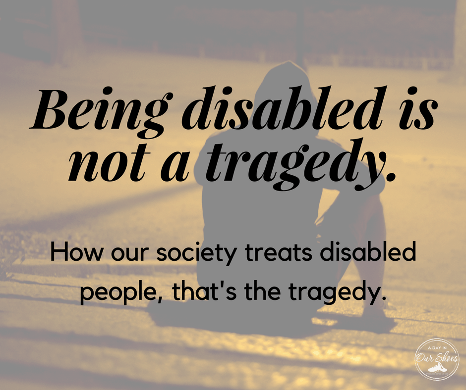 disabled ableism being disabled isn't a tragedy person sitting on the ground in the dark alone outside