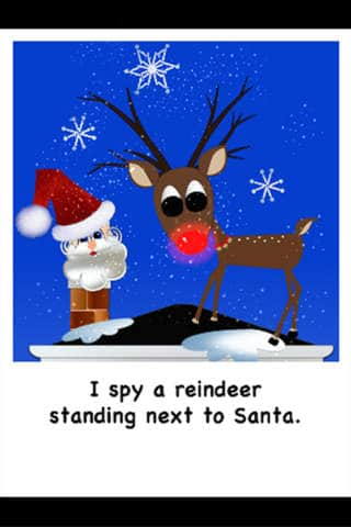 i spy a reindeer