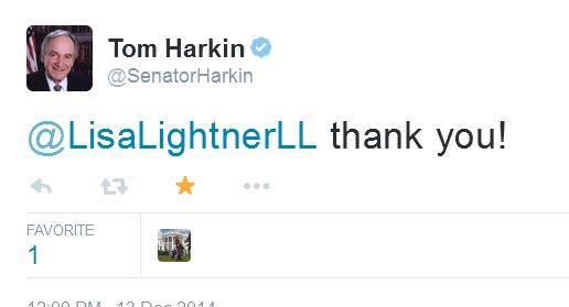 tom harkin tweet