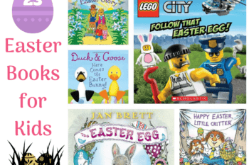 23 easter books for kids shows a few of the books in the list