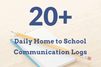 20+ Daily Home to School Communication Logs and Forms~free, printable, special education.