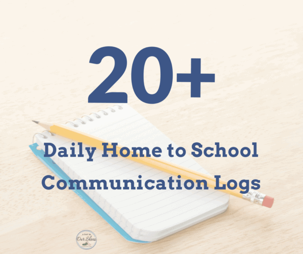 home to school communication forms