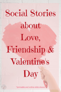 social stories love valentines day friendship printables and slide shows someone painting a heart on a wall