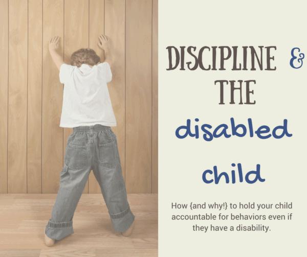 discipline a disabled child