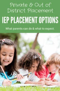IEP placement options private and out of district three children laying in the grass drawing on paper with colored pencils