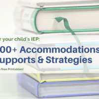 list of strategies and accommodations for IEP