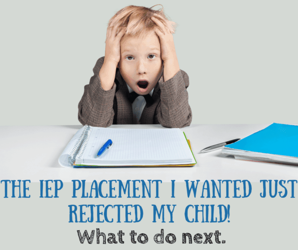 IEP placement rejected student