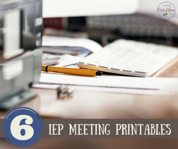 IEP meeting printables