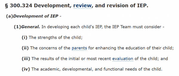 strengths based IEP