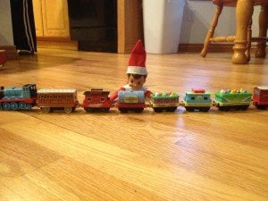 elf shelf autism lining up things