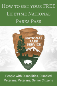 Lifetime national parks pass for people with disabilities, veterans, senior citizen photo of the national parks symbol trees mountain