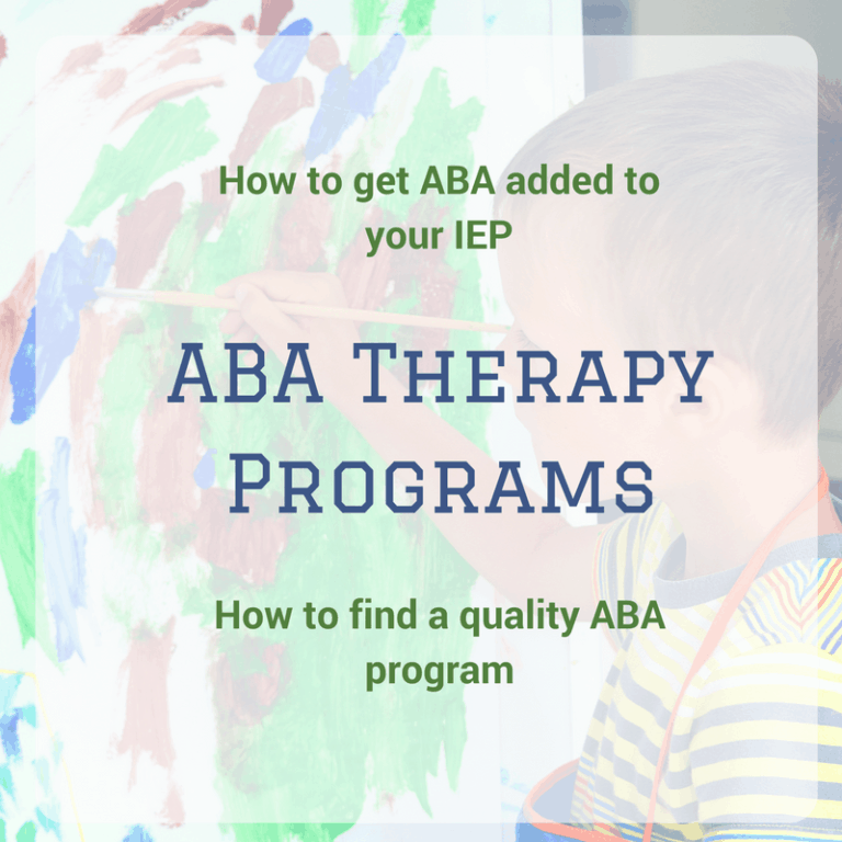 ABA Therapy in Public Schools | How to Get ABA Therapy in your IEP.