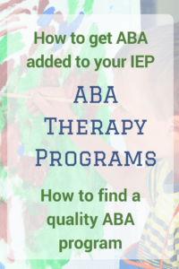 how to get ABA therapy in IEP young boy painting on paper