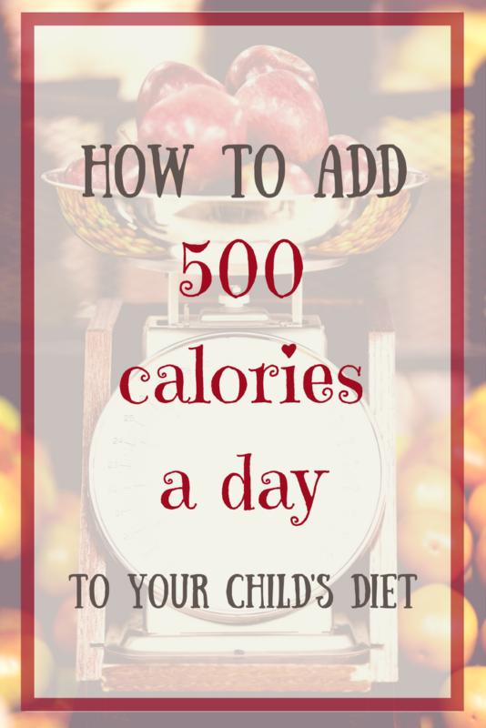 add calories to child diet