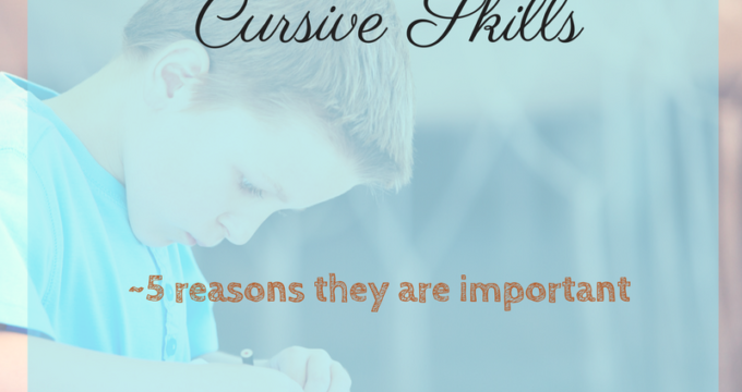 Handwriting and Cursive Practice {why it's needed and 10 ways to encourage it!}