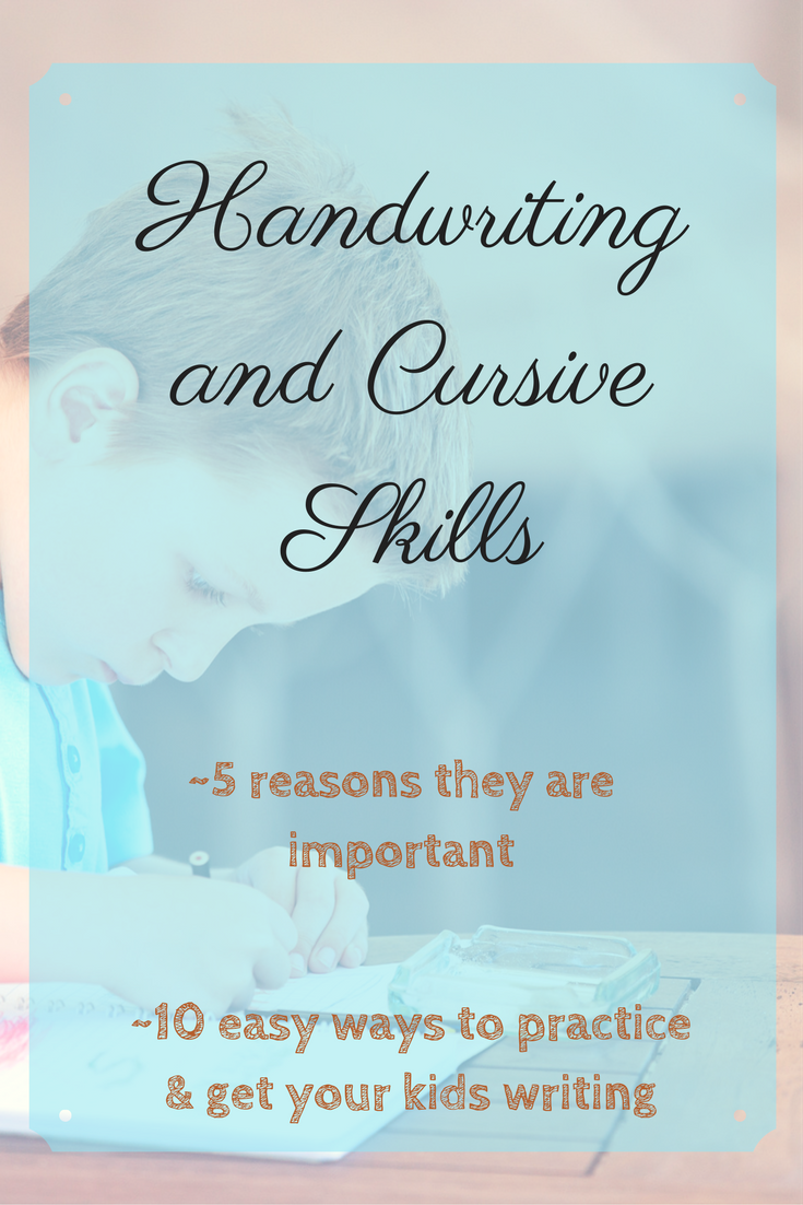Cursive and handwriting practice doesn't have to be stressful, or a lost art. Here are reasons why handwriting is important and 10 ways to implement handwriting practice.