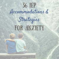iep strategies anxiety