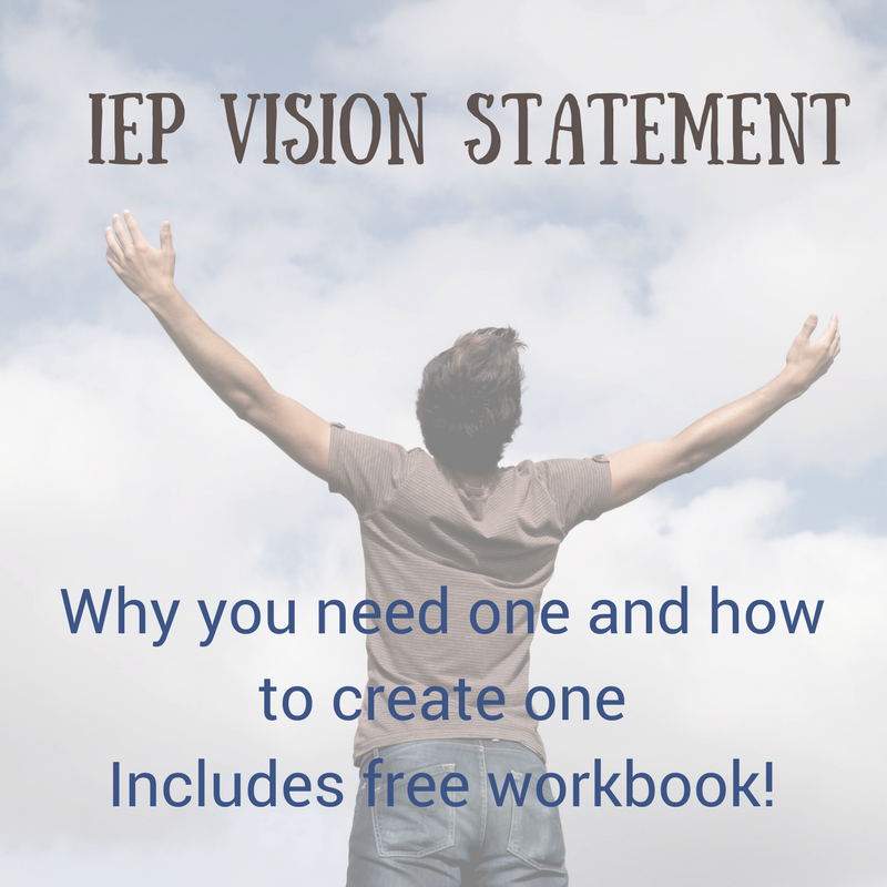 IEP vision, IEP goals, adult IEP