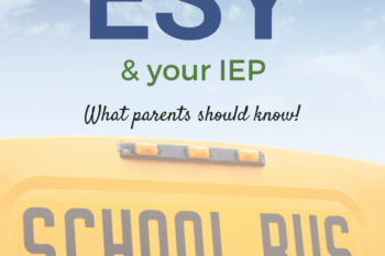 ESY and IEP