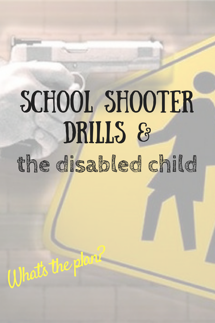 What would happen to your disabled child in a school emergency? Questions parents need to ask schools (and their politicians!).