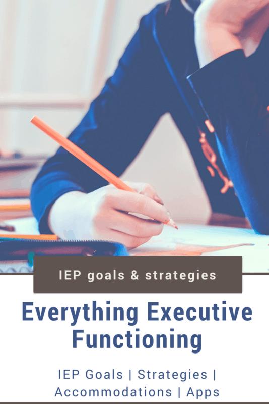 executive functioning iep goals