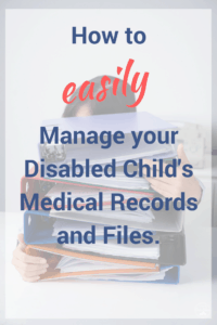 manage child medical records and files person holding onto a stack of binders