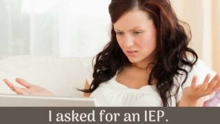 I asked for an IEP and was offered a 504/RTI instead.