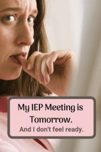 last minute iep meeting advice nervous woman