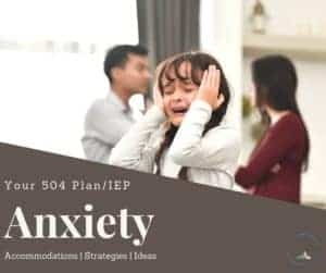 a girl at school visibly upset because she lacks 504 Plan Accommodations for Anxiety