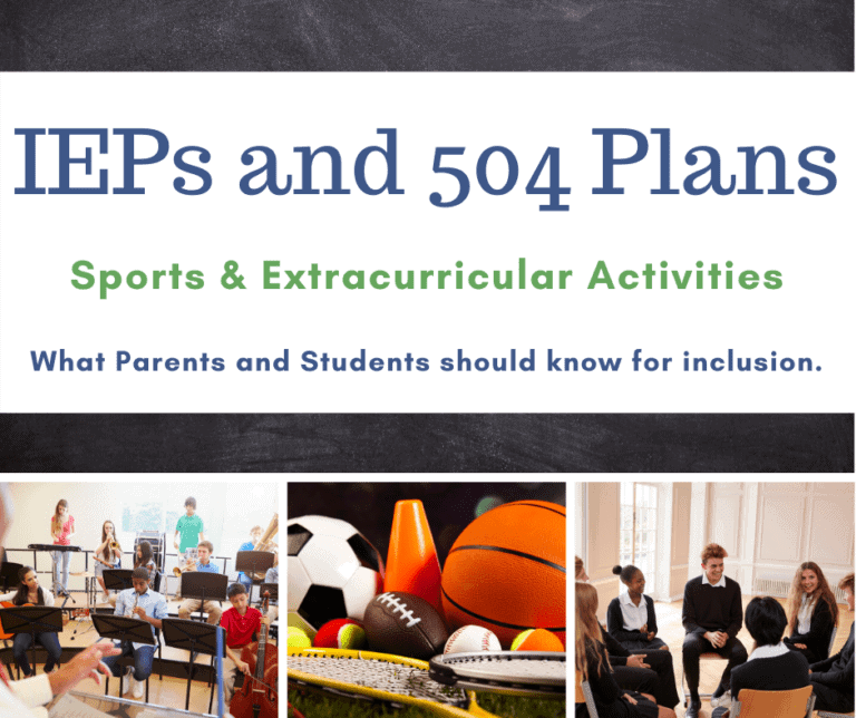 Section 504, IEPs and Sports | Extra-Curricular Activities | What to Know for Inclusion.
