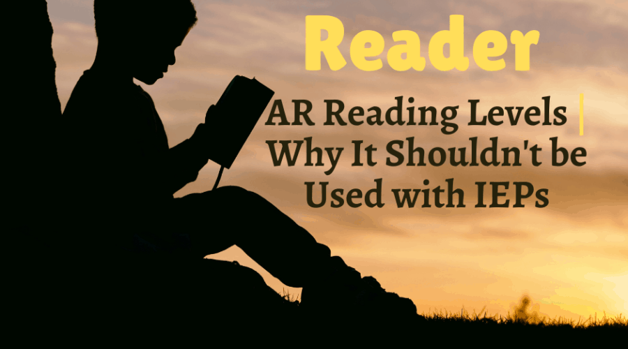 a child reading a book in his Accelerated Reader reading level