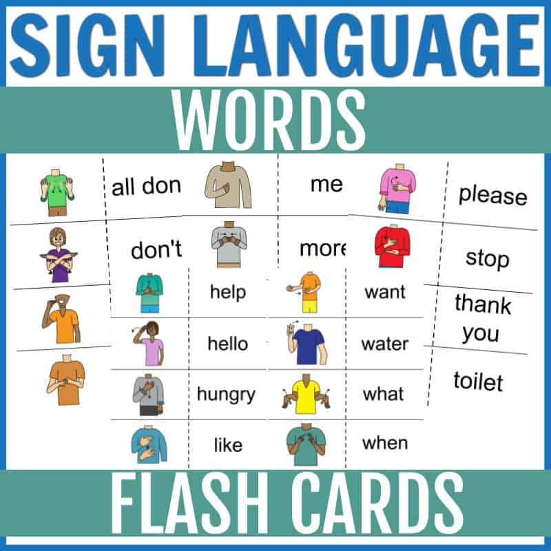basic sign language flashcards