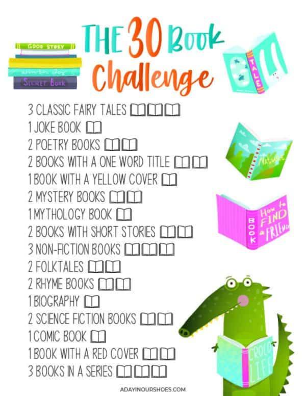 30 book challenge ideas
