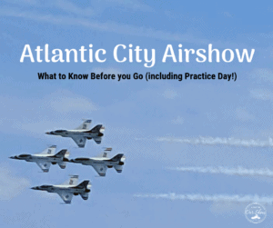 the thunderbirds do a fly by at the atlantic city airshow practice