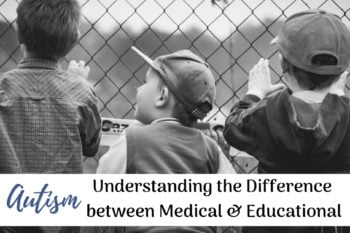 difference Autism medical educational boys standing at a fence looking in