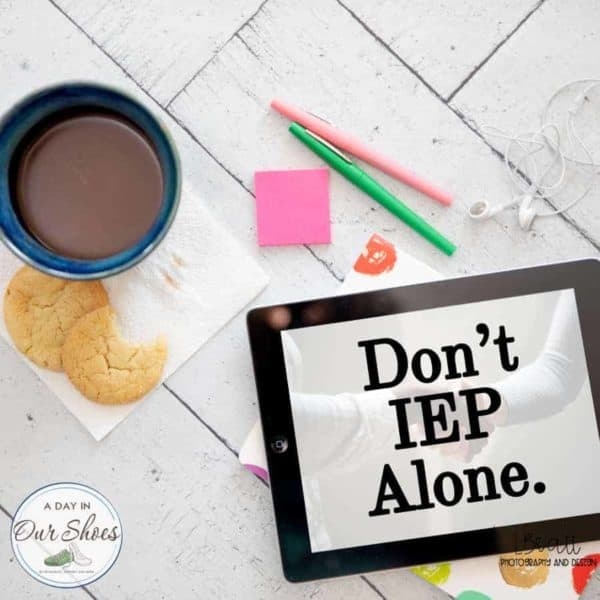 IEP podcast for parents coffee cup markers and ipad on table